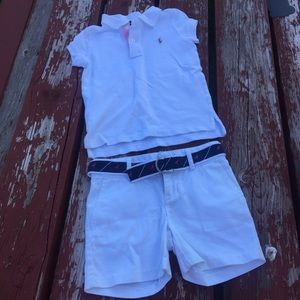 EUC White Polo Ralph Lauren Outfit size 5